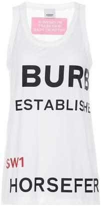 Burberry Printed cotton tank top