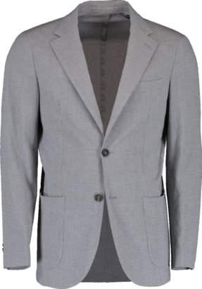 Eleventy Seersucket Jersey Jacket