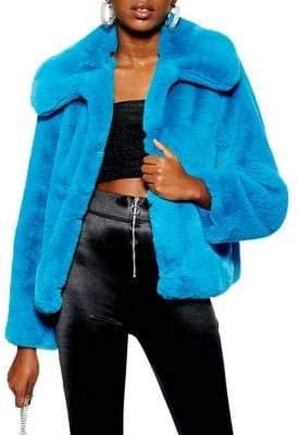 Topshop Anya Faux Fur Coat