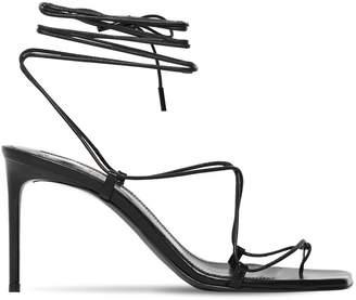 Saint Laurent 75mm Paris Lace-Up Leather Sandals