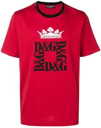 Dolce & Gabbana crown logo print T-shirt