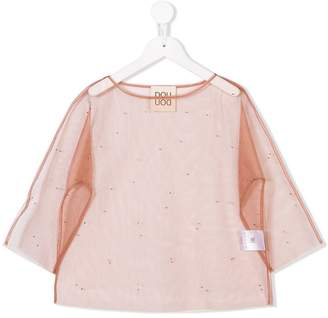 Douuod Kids sheer embellished top