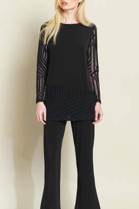 Clara Sunwoo Lace Mesh Slv & Hem Soft Knit Tunic