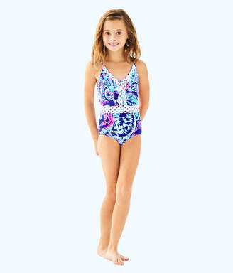Lilly Pulitzer UPF 50+ Girls Mals Swimsuit