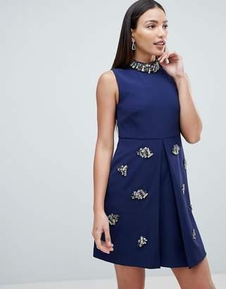 Forever Unique Embellished Swing Dress