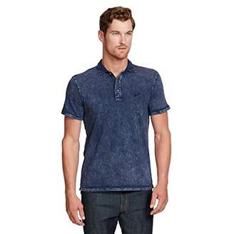 William Rast Men's Sky Short Sleeve Polo Shirt with Brand Logo