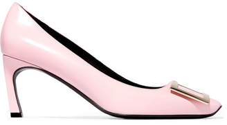 Roger Vivier Belle Vivier Trompette Leather Pumps - Baby pink