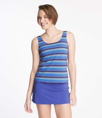L.L. Bean L.L.Bean BeanSport Swimwear, Scoopneck Tankini Top Stripe