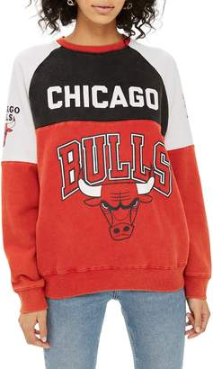 Topshop Topshp x UNK Chicago Bulls Color Block Sweatshirt