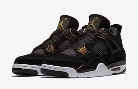 6e2abf222816 Jordan Boys  Toddler Retro 4 Basketball Shoes 308500-032 Black Metallic Gold