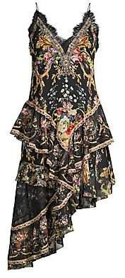 Camilla Women's La Fleur Libertine Layered Asymmetrical Silk A-Line Camisole Dress