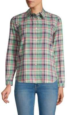 A.P.C. Madras Plaid Button-Down Shirt