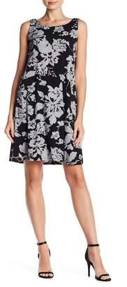 MSK Embellished Floral Dress