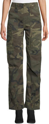 RE/DONE High-Waist Camo-Print Cargo Pants