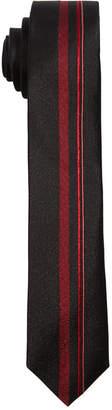 DKNY Big Boys Red Center Striped Necktie