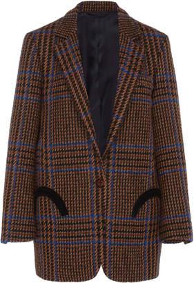 BLAZÉ MILANO Checked Weekend Wool-Cashmere Blazer Size: 3