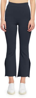 Stella McCartney High-Waist Formfitting Side-Slit Ankle-Length Pants