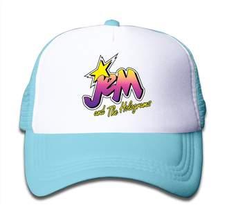 JEM TOEYSO For Little Kids Cool And The Holograms Logo Mesh Snapback Caps