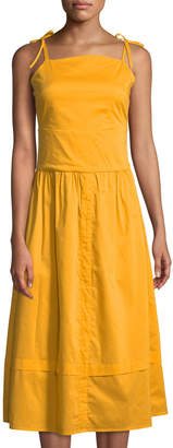 Madisonne Sweet Square-Neck Cami Midi Dress