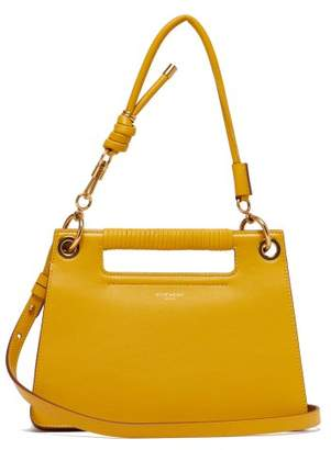 Givenchy The Whip Small Cut Out Leather Cross Body Bag - Womens - Dark Yellow