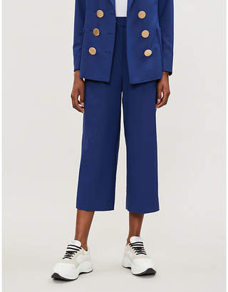 KITRI Serena cropped wool-blend trousers