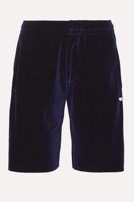 JuJu BLOUSE Stretch-velour Shorts - Navy