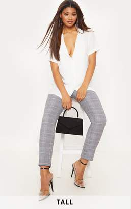 PrettyLittleThing Tall White Short Sleeve Shirt