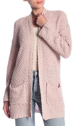 Woven Heart Textured Knit Cardigan