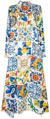 Dolce & Gabbana tile print shirt dress