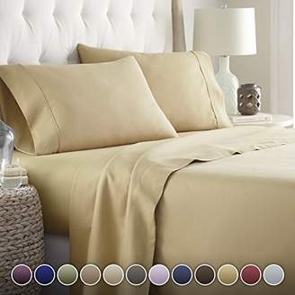 +Hotel by K-bros&Co Hotel Luxury Bed Sheets Set-SALE TODAY ONLY! #1 Rated On Amazon..Ultra Silky Softest Bed Sheets 1800 Series Platinum Collection- Top Quality Linens with 100% Money Back Guarantee!! Vibrant Colors
