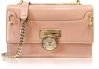 Balmain B.Box 25 Powder Pink Glossy Leather Flap Bag