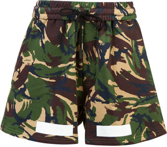 Off-White Auction House camouflage print shorts $330 thestylecure.com