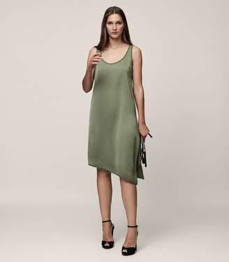 Reiss MELODY SATIN SLIP DRESS Fir Green