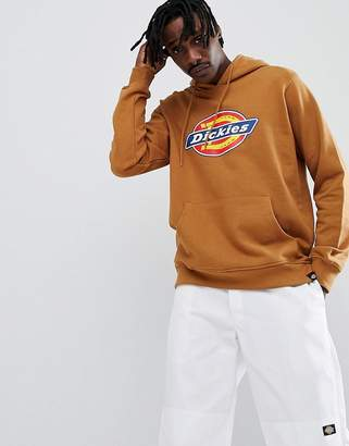 Dickies Nevada Hoodie With Large Logo in Brown
