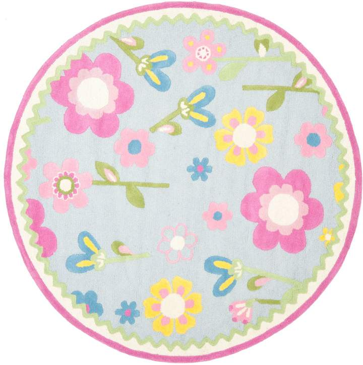 Fresh Flowers 6' Kids Round Rug