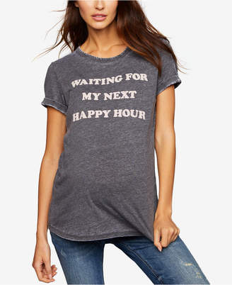 A Pea in the Pod Waiting For My Next Happy Hour Burnout Maternity Graphic Tee