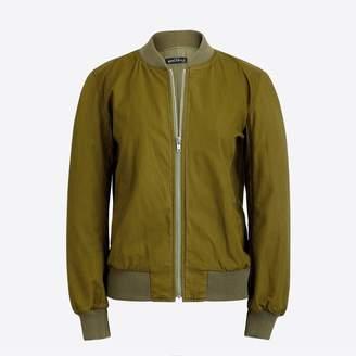 J.Crew Factory Satin bomber jacket