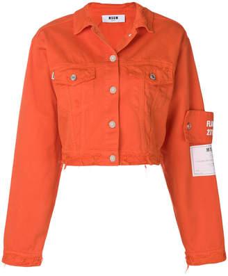 MSGM cropped denim jacket