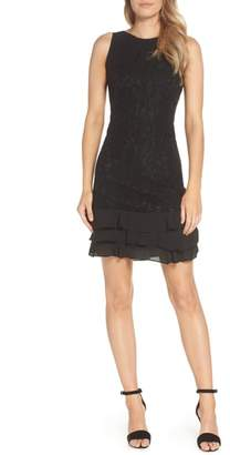 Julia Jordan Sleeveless Lace Sheath Dress
