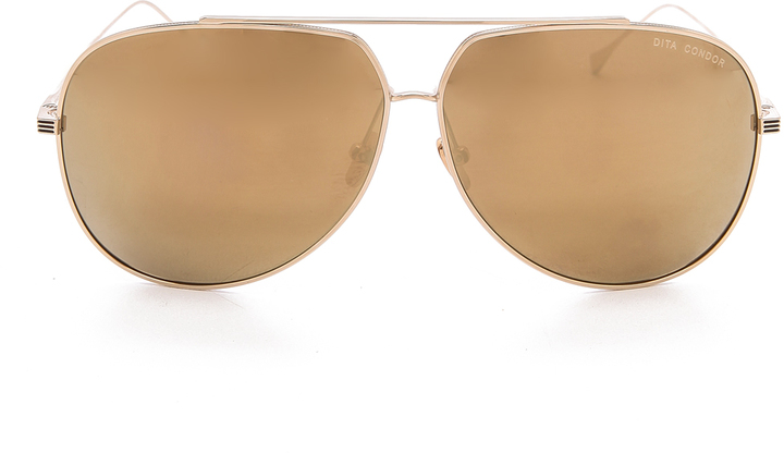 2acdc780264 Dita Condor Metal Aviator Sunglasses
