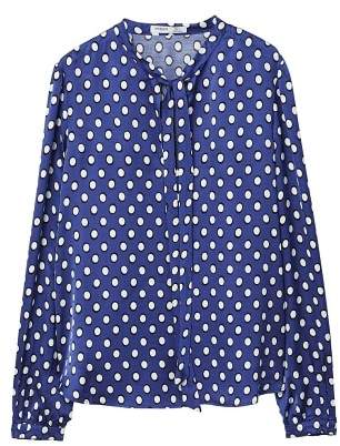 MANGO Bow printed blouse