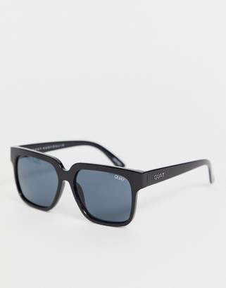 Quay midnight hour square frame sunglasses