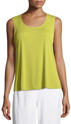 Eileen Fisher Stretch Silk Jersey Scoop-Neck Tank Top, Plus Size