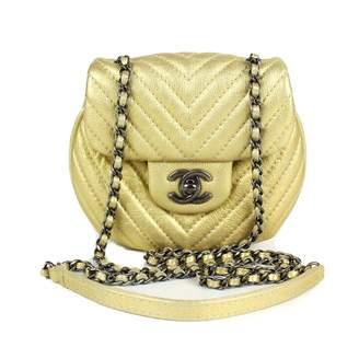 Chanel Gold Leather Handbag