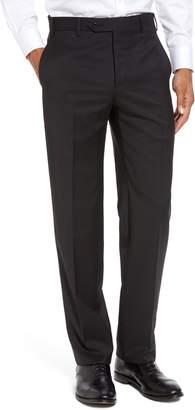 Zanella Devon Flat Front Solid Wool Serge Trousers