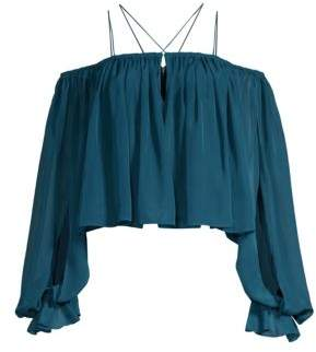 Georgina Off-The-Shoulder Ruffle Blouse