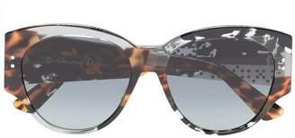 Christian Dior grey Lady 55 tortoiseshell studded sunglasses