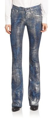 Ralph Lauren Collection 867 Metallic Bootcut Jeans $1,190 thestylecure.com