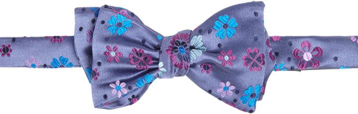 Duchamp Celeste Petals Floral Bow Tie