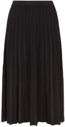 Diane von Furstenberg Klara Pleated Knit Midi Skirt